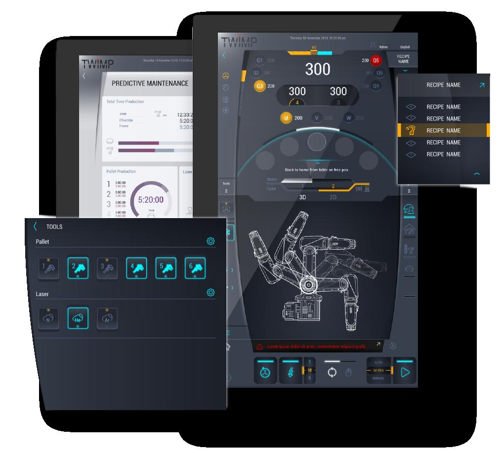 HMI Twimp Elettrosystem - Unita' Robot per la lavorazione Laser